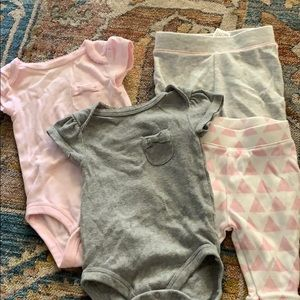 Other - Pink and gray mix and match pieces